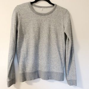 Muji Womens Crewneck Grey Sweatshirt